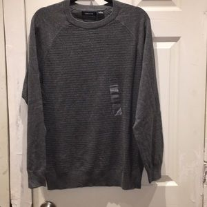 Mens Claiborne gray sweater Sz Large!!! Charcoal
